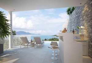 S653: CONTEMPORARY KOH SAMUI SEA VIEW VILLAS FOR SALE