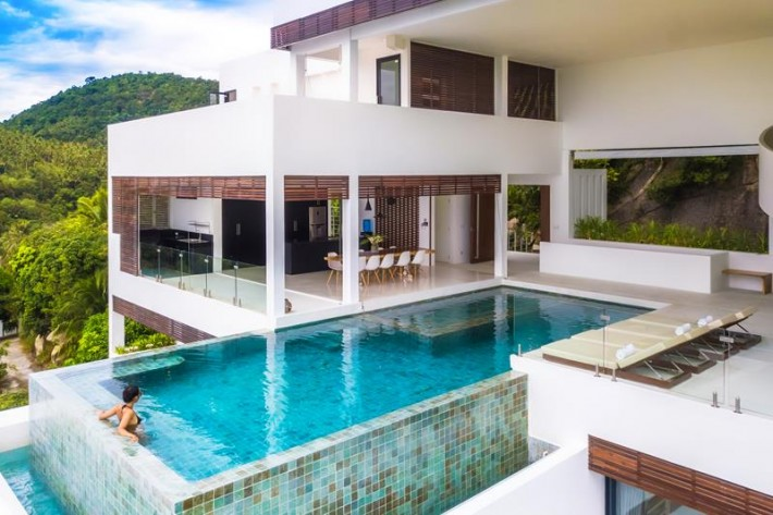 S1363: KOH SAMUI VILLA FOR SALE WITH 180 DEGREE VIEWS