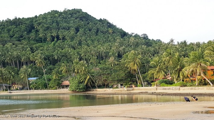 S1576: 2.5 RAI BEACHFRONT KOH SAMUI LAND PLOT FOR SALE