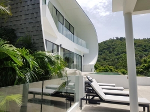 S1456: SEA VIEW CONTEMPORARY KOH SAMUI VILLA FOR RENT