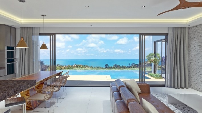 S1512: VILLA WITH SEA AND SUNRISE VIEWS