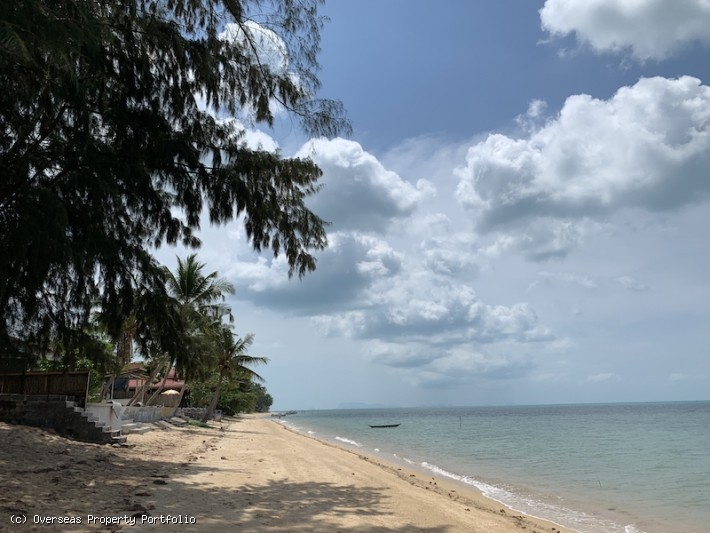 S1629: 3.5 RAI BEACHFRONT KOH SAMUI LAND PLOT FOR SALE