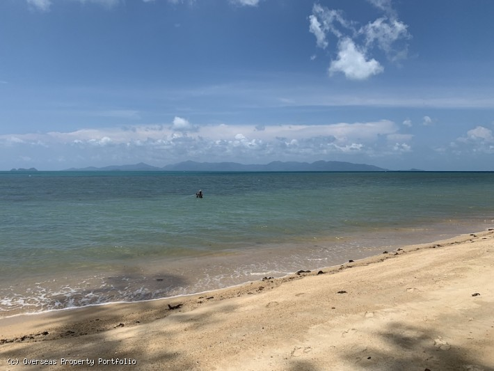 S1630: 8 RAI BEACHFRONT KOH SAMUI LAND PLOT FOR SALE