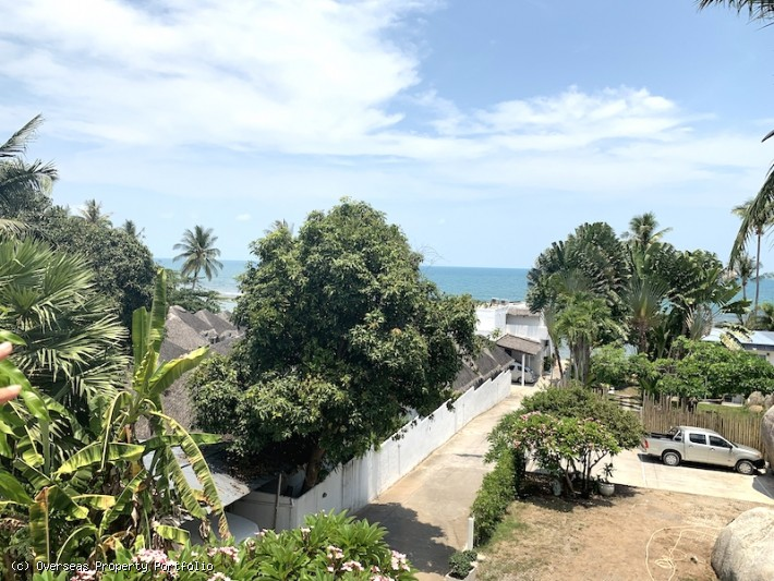 S1650: KOH SAMUI LAND PLOT FOR SALE 15 METERS FROM THE BEACH