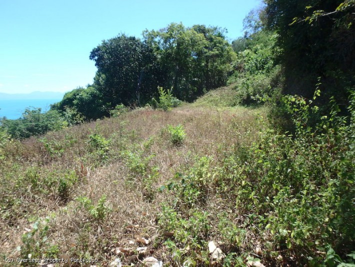 S1655: KOH SAMUI LAND PLOT FOR SALE WITH STUNNING SEA VIEWS AND VILLA PLANS