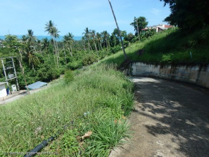S1668: SEAVIEW KOH SAMUI LAND PLOTS FOR SALE