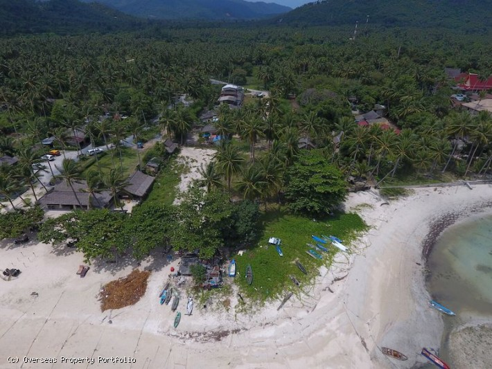 S1687: 0.59 RAI BEACHFRONT KOH SAMUI LAND PLOT FOR SALE
