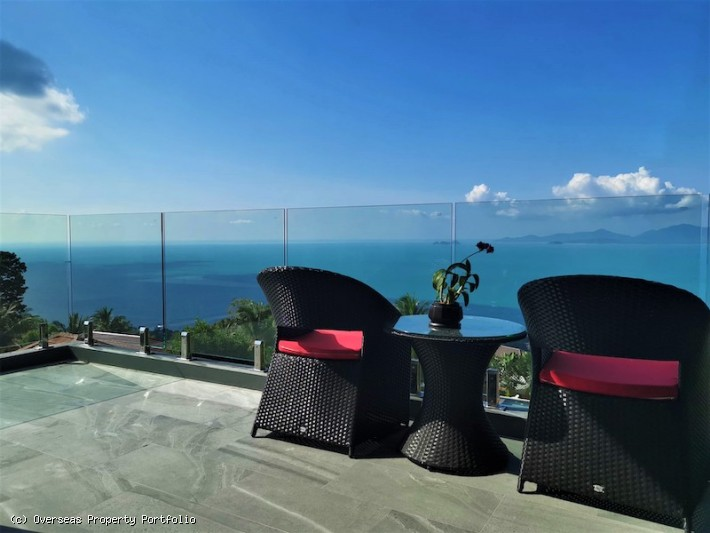 S1708: STUNNING KOH SAMUI VILLA FOR SALE WITH 180 DEGREES SEA VIEWS