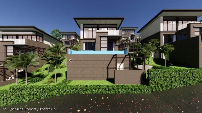 S1717: CONTEMPORARY SEA VIEW KOH SAMUI VILLAS FOR SALE