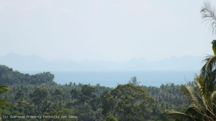 S1825: KOH SAMUI LAND PLOT FOR SALE WITH MAGNIFICENT SEA VIEWS