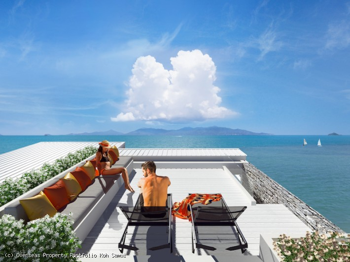 S1835: KOH SAMUI BEACHFRONT APARTMENT IN GREAT LOCATION FOR SALE