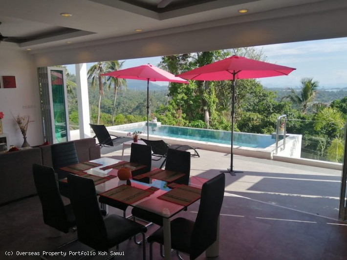S1838: KOH SAMUI VILLA WITH GREAT SEA VIEWS FOR SALE