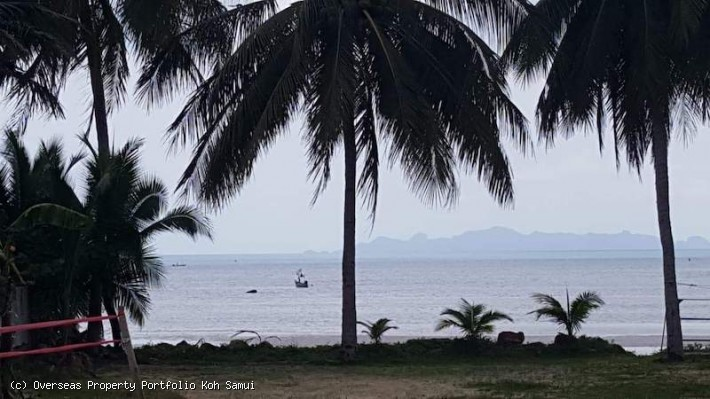 S1843: KOH SAMUI BEACHFRONT LAND FOR SALE