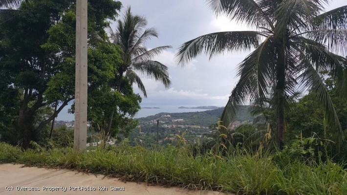 S1849: 30 RAI KOH SAMUI SEA VIEW LAND FOR SALE