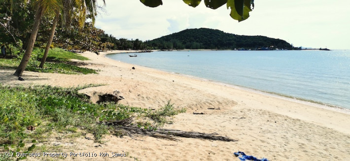 S1860: 29 RAI KOH SAMUI BEACH FRONT LAND FOR SALE