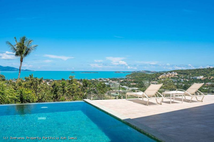 S1866: KOH SAMUI SEA VIEW VILLA FOR SALE IN CENTRAL LOCATION
