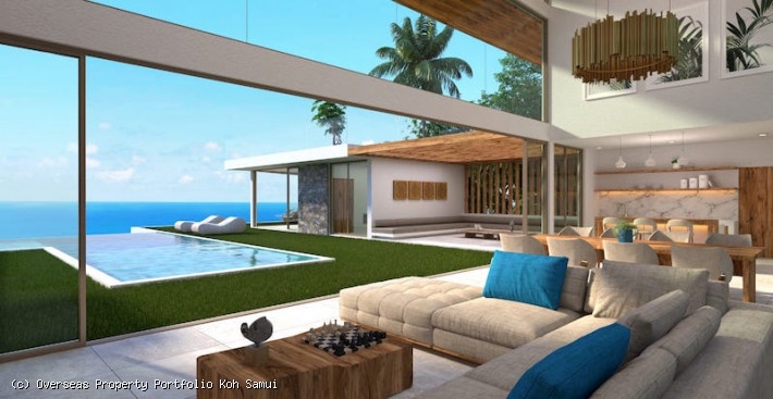 S1877: STUNNING KOH SAMUI VILLA WITH PANORAMIC VIEWS FOR SALE