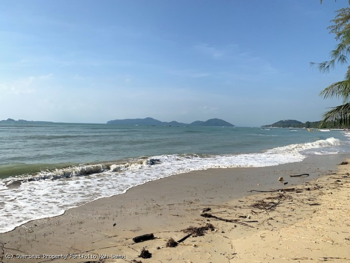 S1897: 1.5 (or 3.5) RAI KOH SAMUI BEACHFRONT LAND FOR SALE