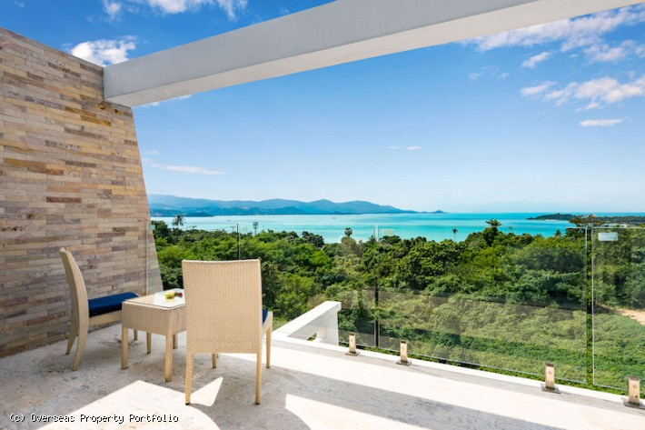 S650: KOH SAMUI VILLA FOR SALE WITH SEA AND SUNSET VIEWS