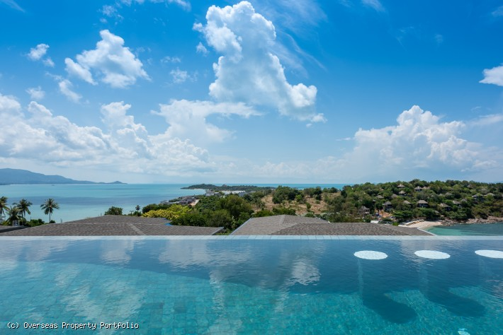 S1739: CONTEMPORARY BEACHSIDE KOH SAMUI VILLA FOR SALE AND RENT WITH PANORAMIC SEA VIEWS