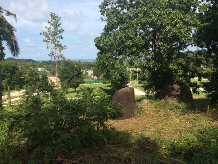 S1489: KOH SAMUI FLAT LAND FOR SALE WITH CHOENG MON VIEW